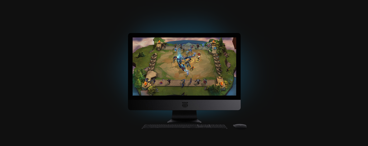 Dota Underlords screenshot - this is a game of the Auto Chess genre, so a big part of it is automated