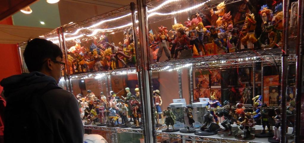 Figurines of gaming heroes at EGX 2019