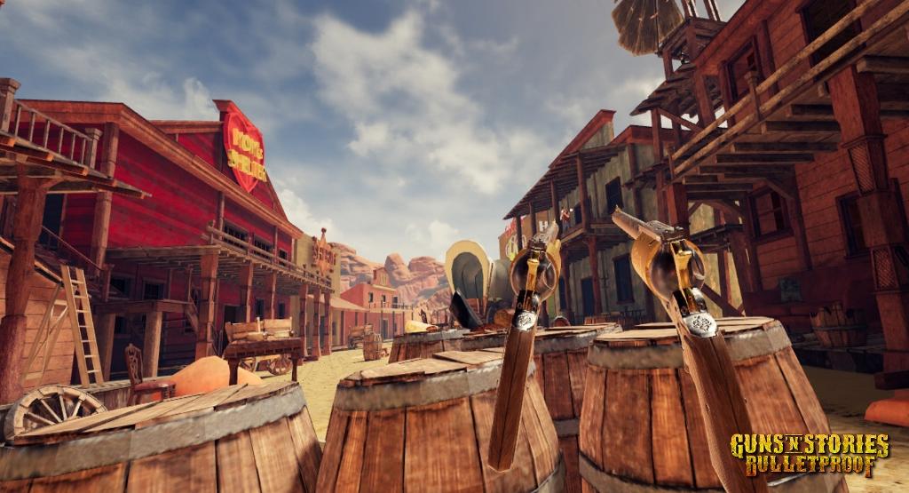 Guns'n'Stories: Bulletproof - a VR shooting game on Caer Sidi