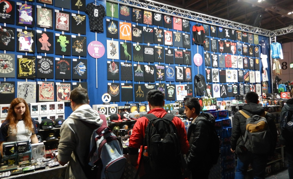 Gaming merchandise at EGX 2019