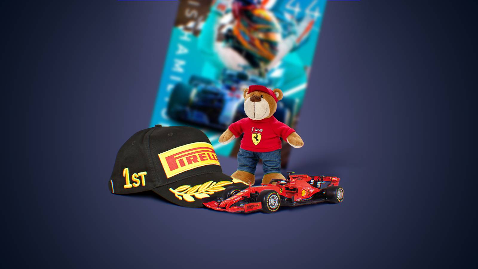 F1 merch that become phygital (get digital features) thanks to the Caer Sidi service