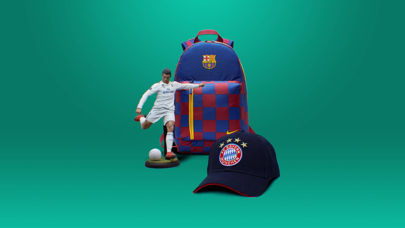 Football (soccer) merch that become phygital (get digital features) thanks to the Caer Sidi service