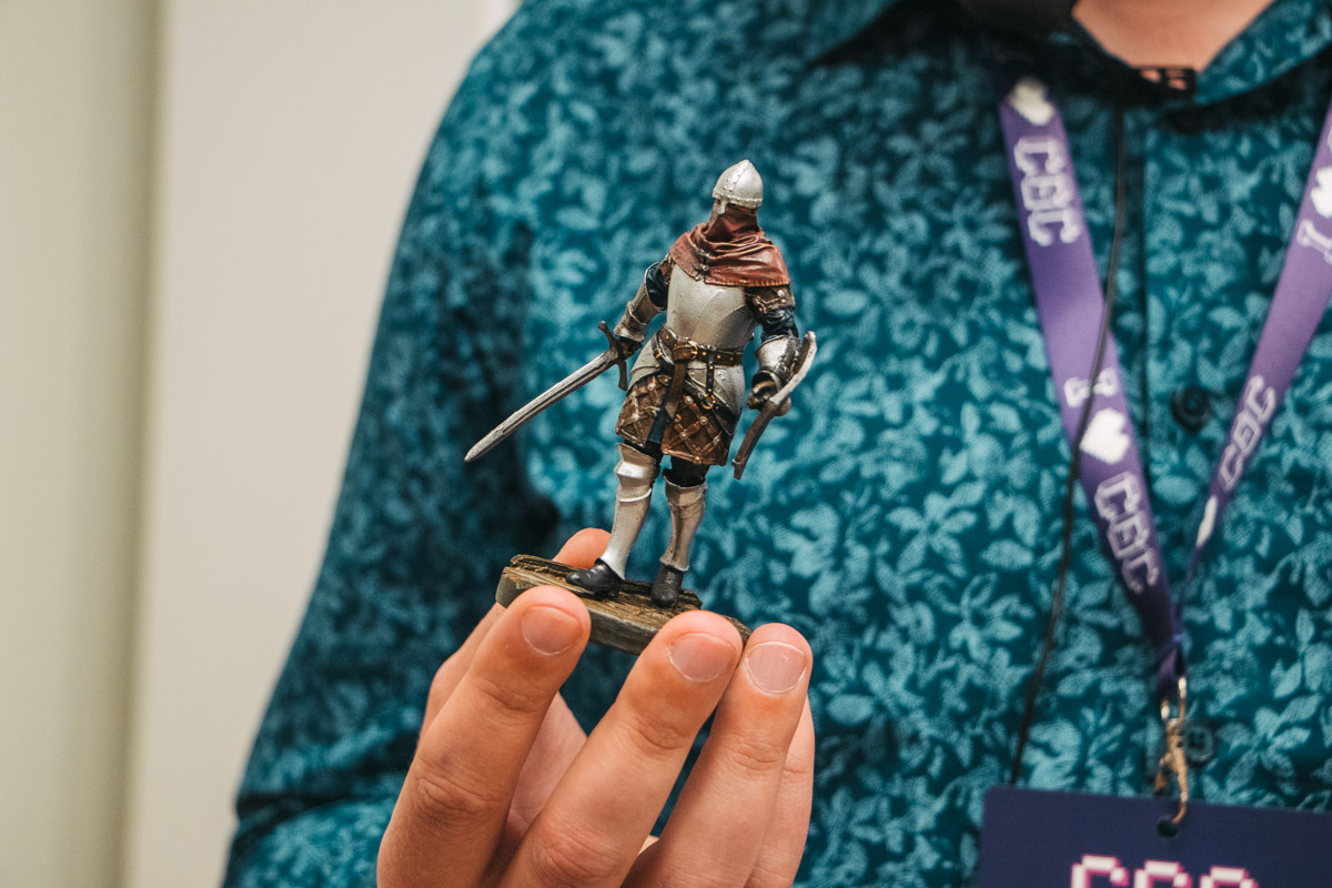 Caer Sidi at Crypto Games Conference - Phygital figurine of Champion from the Post Scriptum paracosm