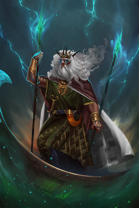 Celtic sea god Manannan in the game Altar: the War of Gods