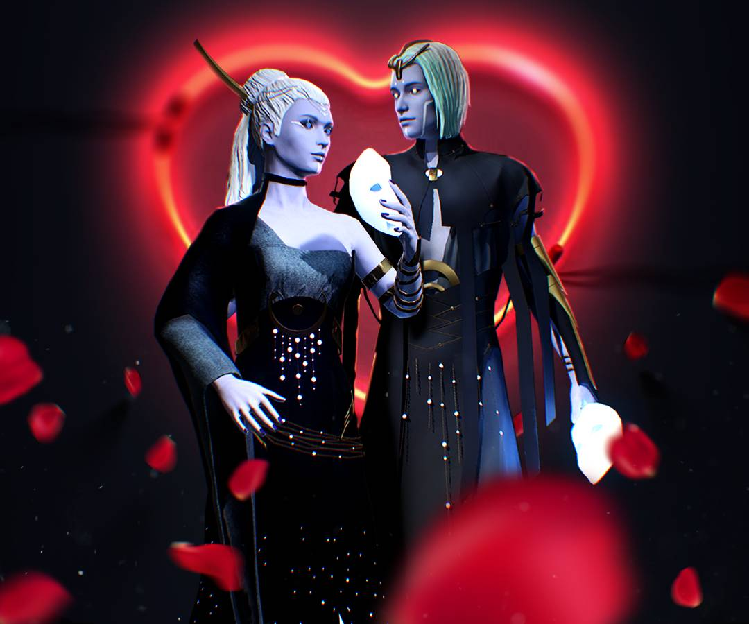 Mystic Love - a Caer Sidi bundle for Valinetine's Day 2019. Avatars of Aeddon and Urien for Caer Sidi Hub